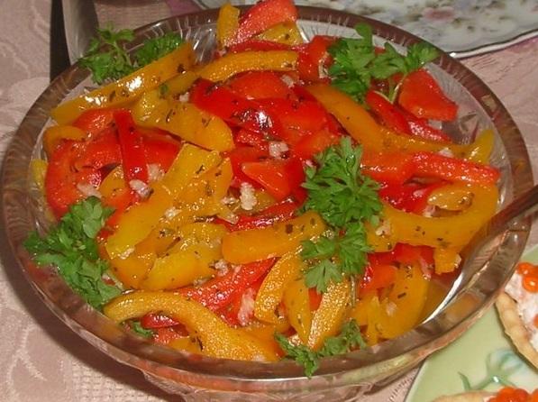 Салат рецепт перец болгарский